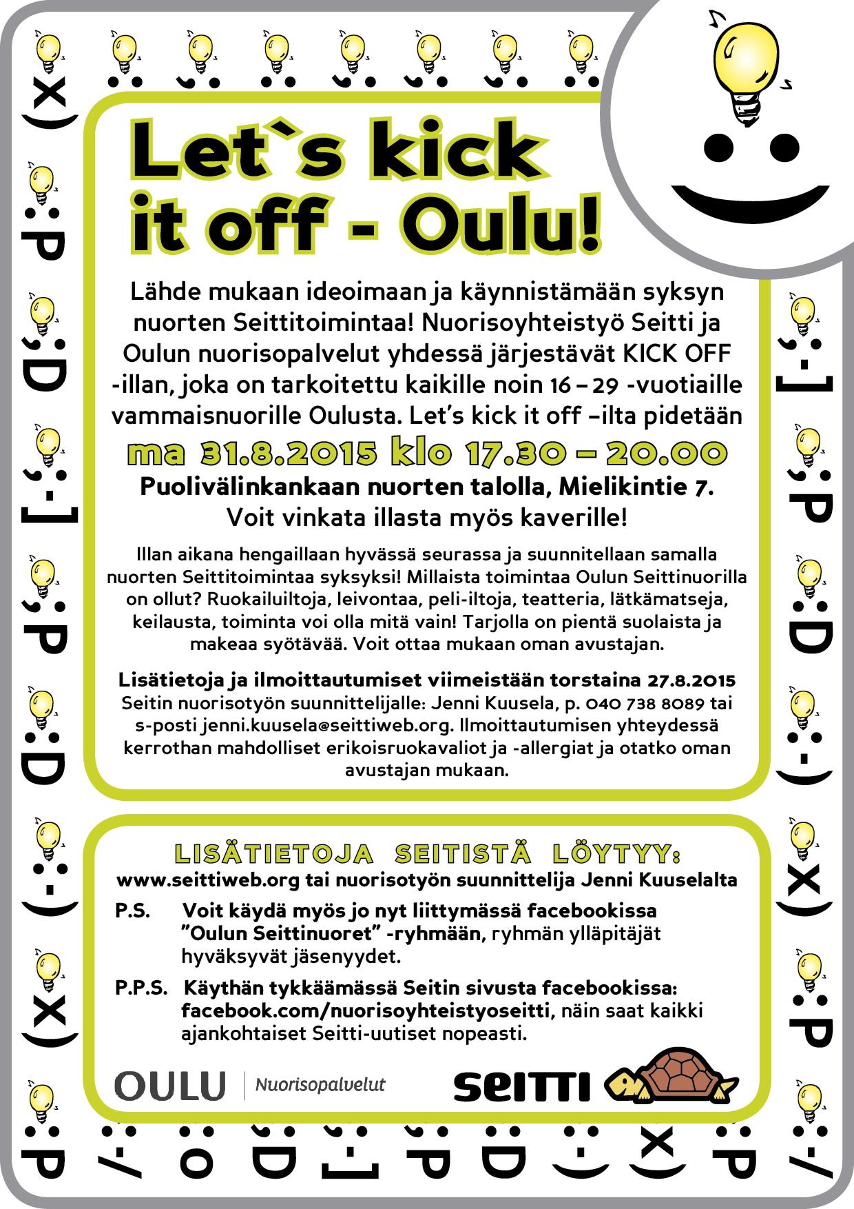 Syksyn Seittitoiminnan käynnistys Oulussa
