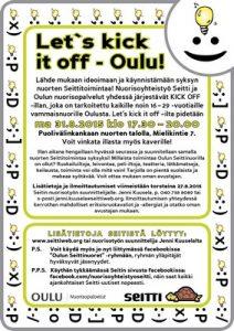 Tietoa Seitin Oulussa järjestämästä Kick it off -tapahtumasta