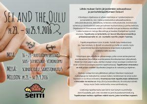 Sex and the Oulu -tapahtuman mainos